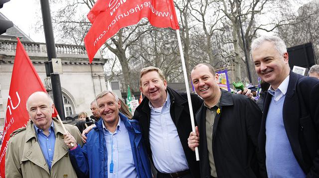 McCluskey (center) with some of his mates.