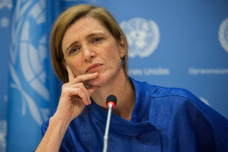 Samantha Power, US Ambassador to the UN. Like her predecessors, a tool for imperial machinations.