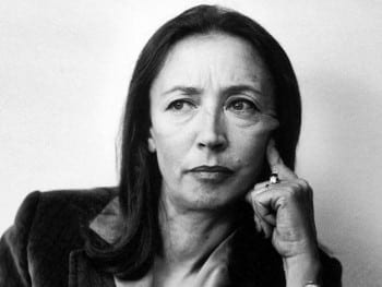 Fallaci: from icon of left journalism to turncoat. She probably glided over events, without an emotional or ideological understanding of what she supposedly witnessed.