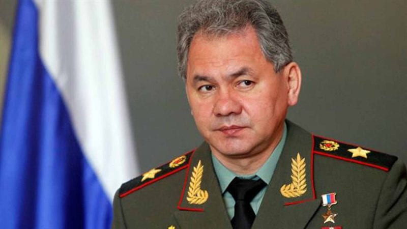 Russian Defence Minister Shoigu.