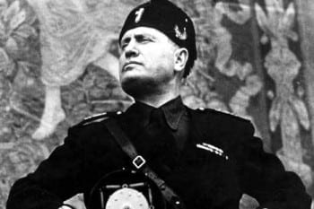 Benito Mussolini —il Duce—found his call as a leader of a faux populist movement. His father, a hard-core socialist, named him Benito in honor of Benito Juarez, the Mexican hero.