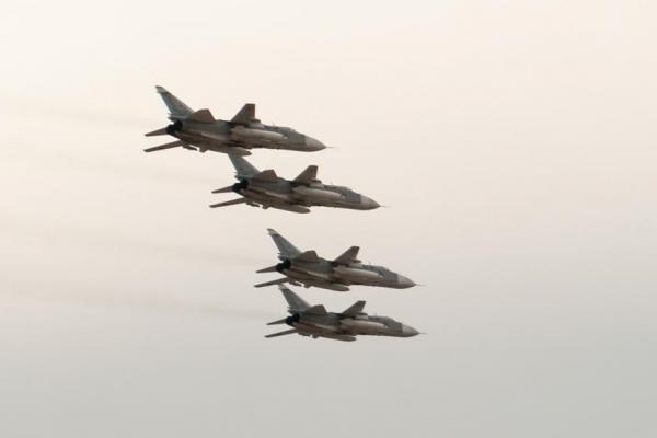 Russian jets on ISIL extermination mission. For once, avenging wings.