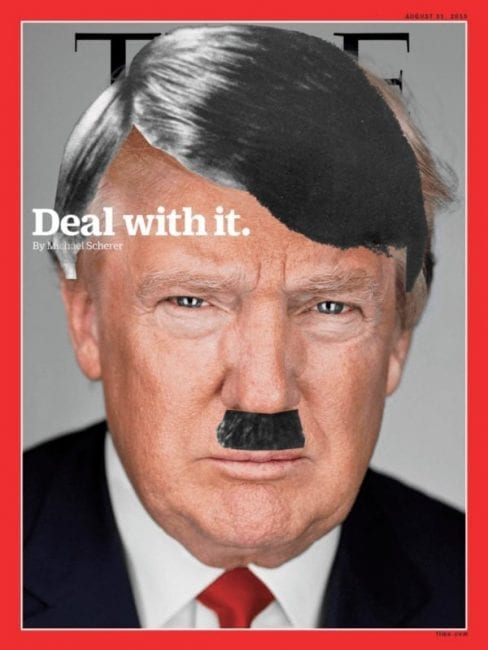 The Web is suddenly crawling with images of Trump as Hitler—the idea has apparently caught on. To what extent this is the weight of the establishment attempting to quash Trump as an unwelcome messenger is anybody's guess at this time.