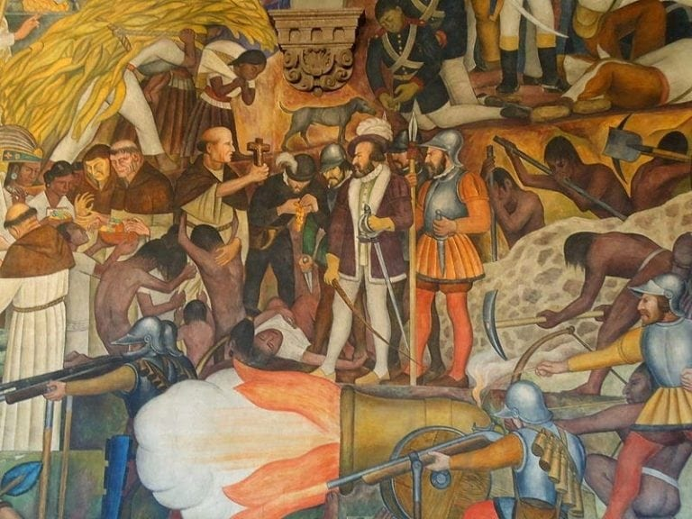 Ignorance and indoctrination of westerners kills millions for Diego rivera la conquista mural