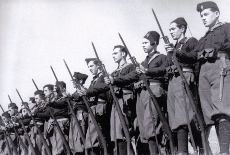 Camicie Nere at attention (1936).