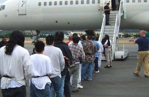 "Latino ""undocumented"" immigrants deported under Obama."