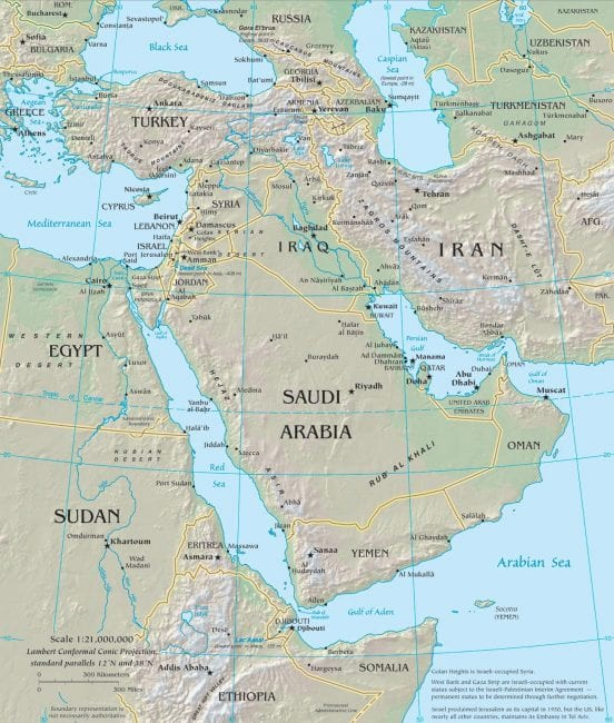 The Middle East has been coveted for its oil and strategic location, astride three major continents.