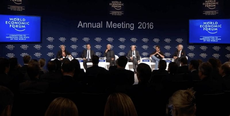 The Davos assembly of capitalist vultures, their hacks, and sycophant politicians. Nothing good can ever come out of such conferences. (Screengrab, TGP)