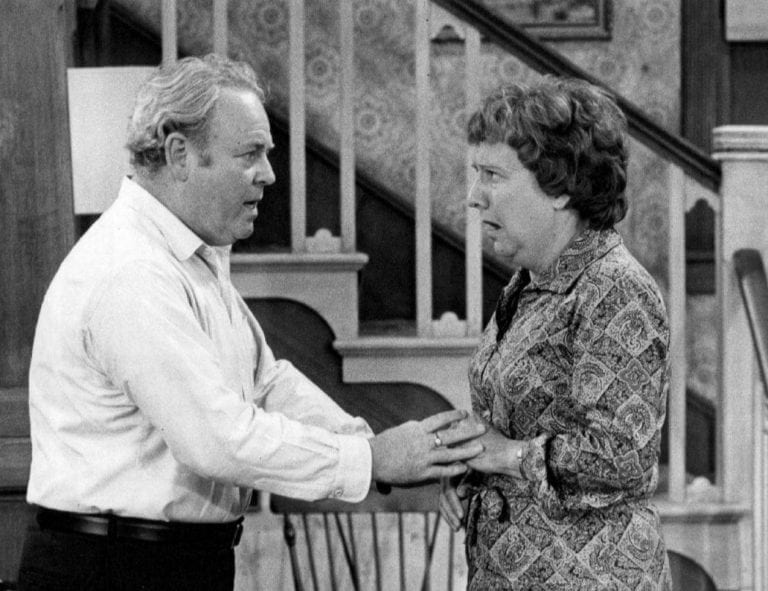 Archie and Edith Bunker (Carroll O'Connor and Jean Stapleton)