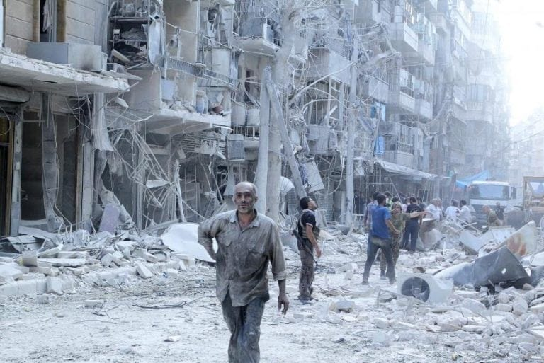 The ruins of Aleppo—the whole Middle East is now is now a heap of rubble—owing to the greed and sociopathy of the global ruling class.