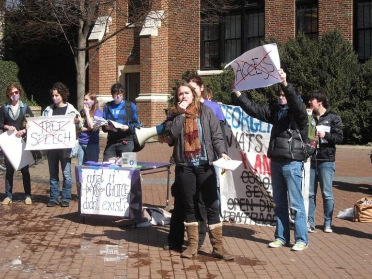 Georgetown student protest