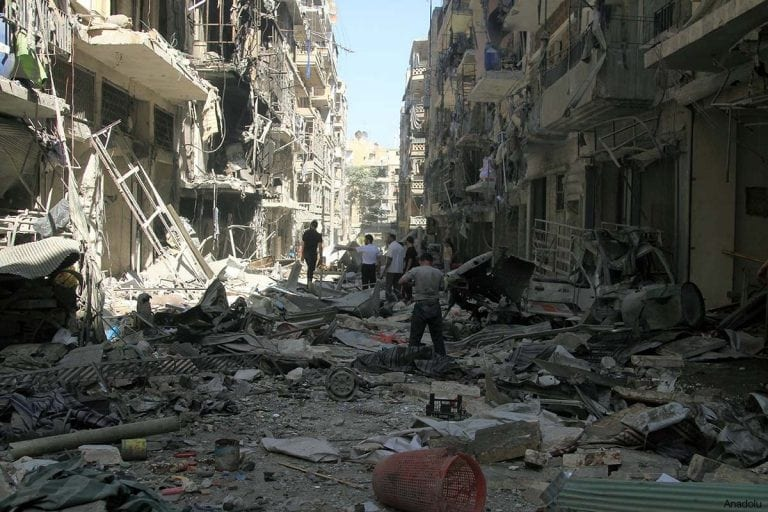 syria-a-destroyed-street-in-aleppo-syria