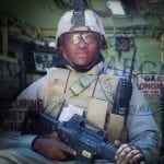 One of the former child soldiers serving for Aegis in Iraq (Mads Ellesoe) MEE