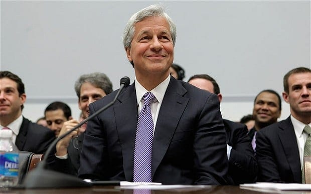 JPM-Chase's Dimon: Sitting pretty atop a mountain of wealth.