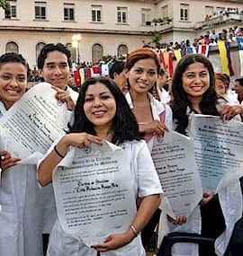 Proud graduates of ELAM—socialist C Cuba's gift to the world, a Medicine School for Latin America—and beyond.