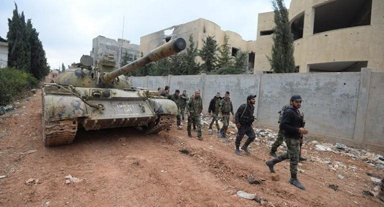 The Syrian Arab Army is currently engaged in a counteroffensive in the Khan Touman region, trying to clean the area of terrorists who regained ground thanks to the truce established between the warring factions but violated by the US-led coalition.