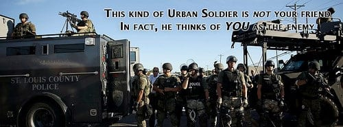urban soldiers, police militarization
