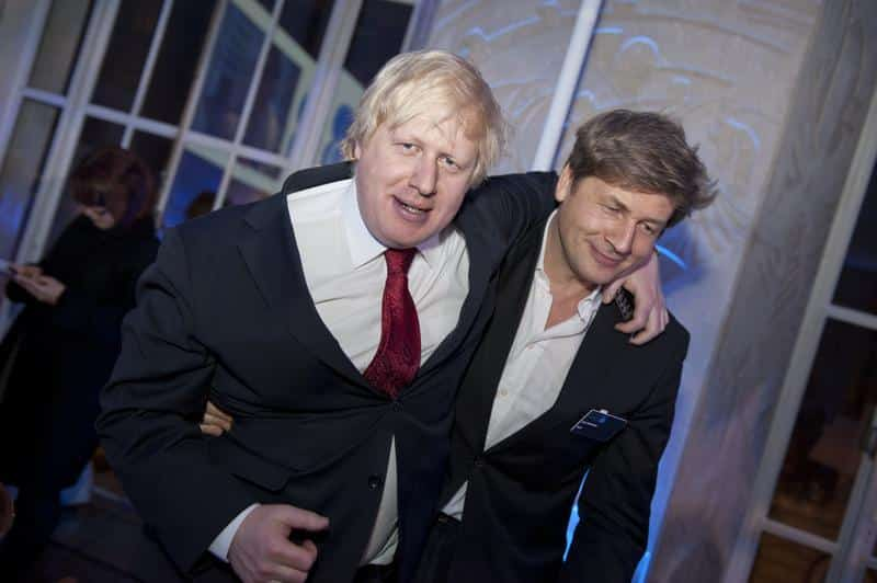 Boris Johnson with brother. Turning off the smarts in a bid to please the empire.