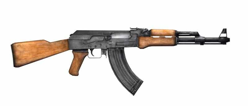 The justly famous if not legendary Kalashnikov 47 (because it was first produced in 1947).