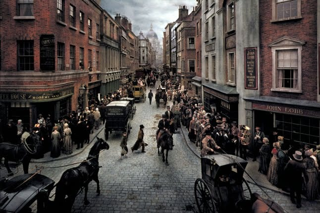 Dickens' London: the city was already throbbing with the energy of a vigorous mercantile capitalism.