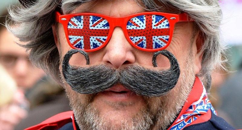 Brexit supporter in London