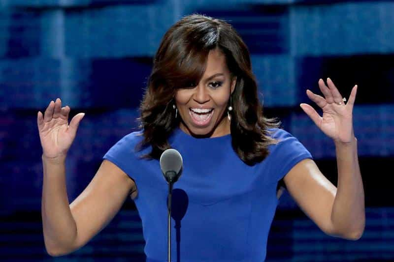 In a spectacle fraught riddled with fraud, the appearance of Michelle Obama to discourse on platitudes is surely near the top.