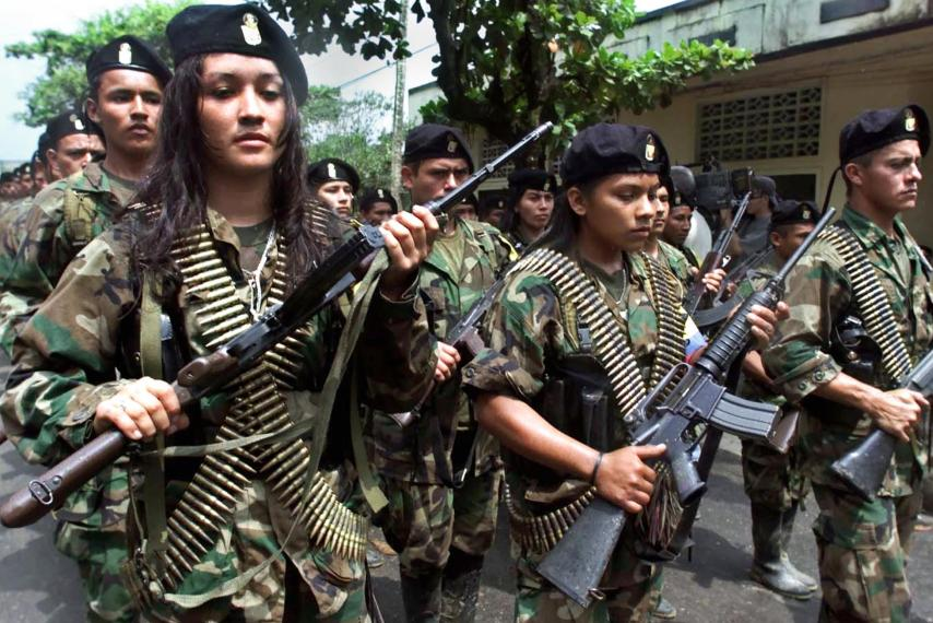 FARC guerrillas: The ruling class and its henchmen, sponsored by the CIA, only understand counterviolence.