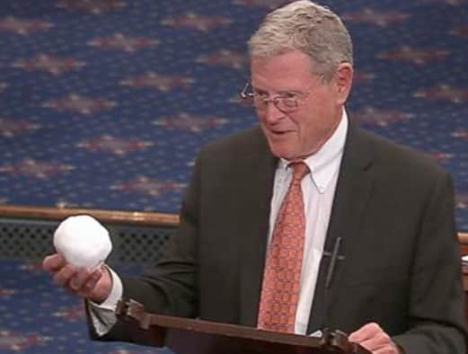 "You don't have to be an educated person to be a professional politico in the US, nor have any sense of decency, for that matter. Here Inhofe ""proves"" that global warming is a hoax."