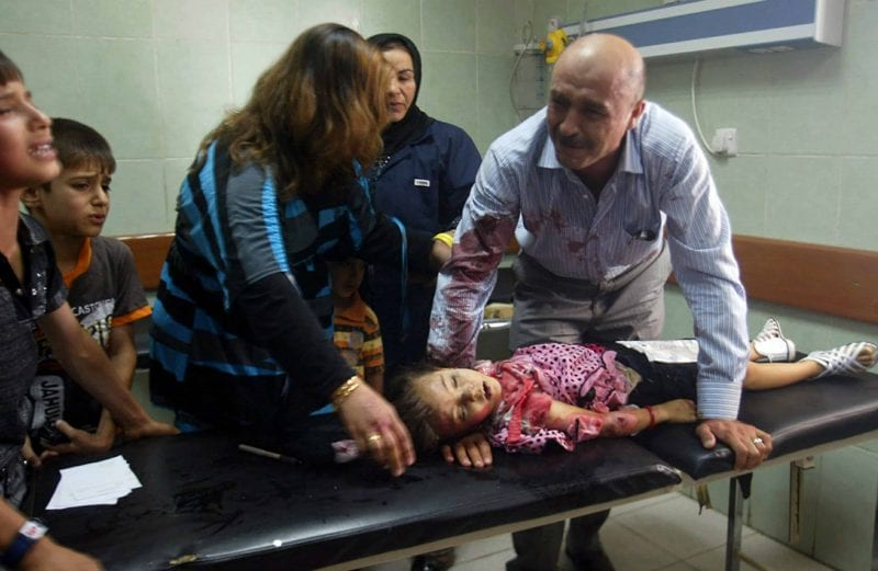 The US/Saudi-spawned ISIS is a plague currently accursing many nations, but still chiefly  victimizing the Middle East. Thislittle girl fell victim to an ISIS car explosion in Iraq, a country first tortured by the Anglo-American alliance.