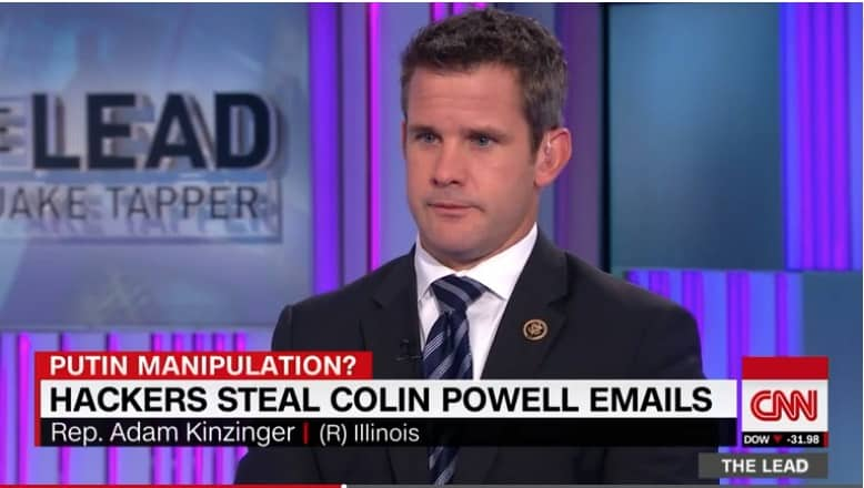 The rabidly anti-Russian ignoramus Kinzinger being offered a platform on CNN.