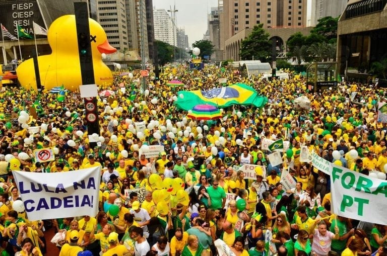 Brasil anti-corruption protests