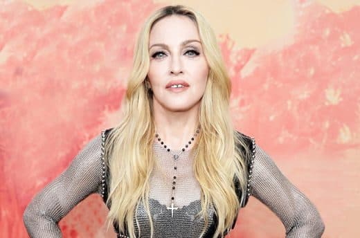 LOS ANGELES, CA - MARCH 29:  Singer Madonna poses backstage at the 2015 iHeartRadio Music Awards which broadcasted live on NBC from The Shrine Auditorium on March 29, 2015 in Los Angeles, California.  (Photo by Kevin Mazur/Getty Images for iHeartMedia)