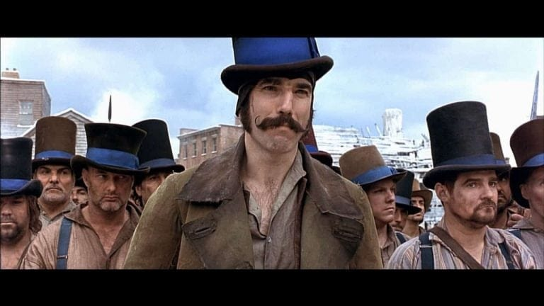 The fierce nativists' hatred of Irish immigrants was well reflected in Martin Scorsese's Gangs of New York. (Still: Daniel Day Lewis as head of the local Know Nothings).