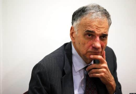 """WASHINGTON, DC - JULY 02:  Former presidential candidate Ralph Nader listens during a news conference July 2, 2012 at Public Citizen in Washington, DC. Nader held a news conference to announce an """"upcoming limited general strike to protest the colonial status of the District of Columbia and to support D.C. statehood.""""  (Photo by Alex Wong/Getty Images)"""