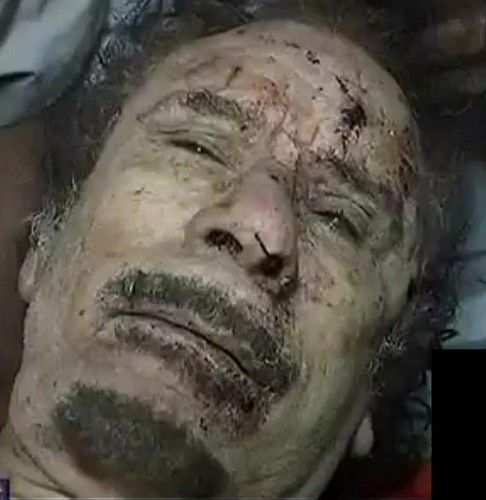 Gaddafi was murdered like a victim of a mafia hit, which he was.