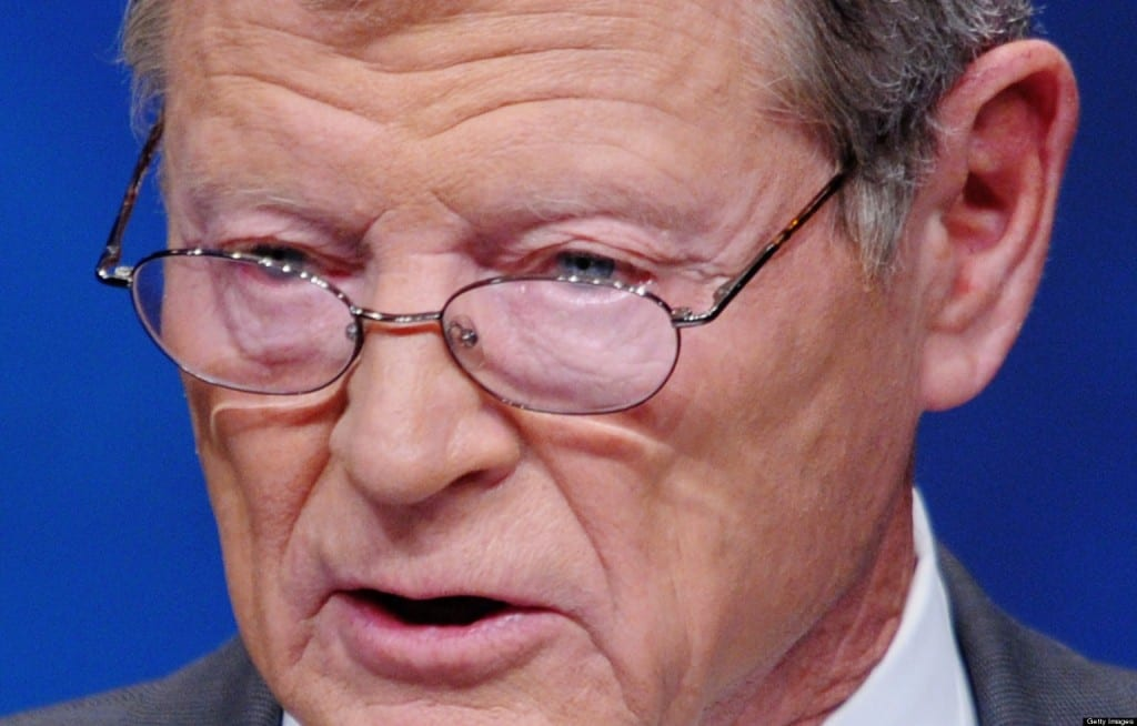 Oklahoma's James Inhofe: climate change denier and  a poster boy for political corruption,and  rightwing meanness, this man should be in jail, not presiding over  the destiny of a great nation.