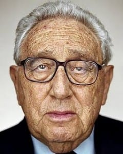Kissinger: The face of banal evil in its twilight. Expect media hoopla when this bastard dies.