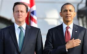 Barack Obama and the UK's PM David Cameron: Bosom buddies in war planning. An age of repugnant hypocrisy. Where is that Nuremberg war crimes tribunal now that we need it?