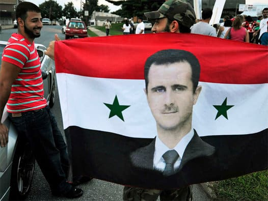 Assad Syrian supporter. Even Bashar al-Assad is given higher marks than Obama and his assigned court liar John Kerry for honestly seeking peace in the Middle East.