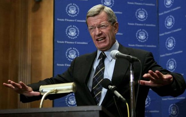Max Baucus: Try finding a more corrupt politico. Many match him but none surpass him.