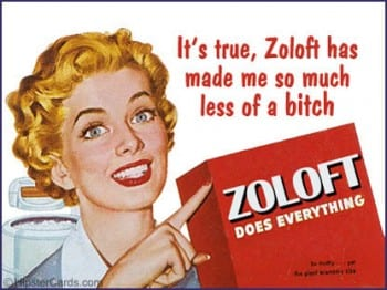Non-PC satire of antidepressant meds.