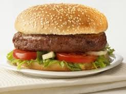 Nonmeat burger. Impossible to distinguish.