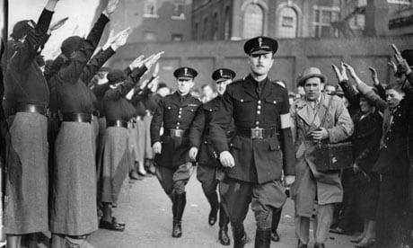 Oswald Mosley, leader of the British Union of Fascists.