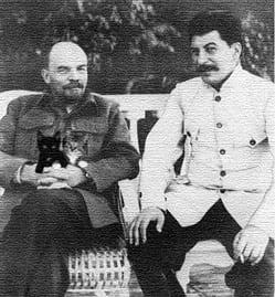 Lenin, kittens, and Stalin, no less.