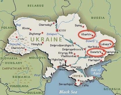 ukraine+Eastern-map+unrest