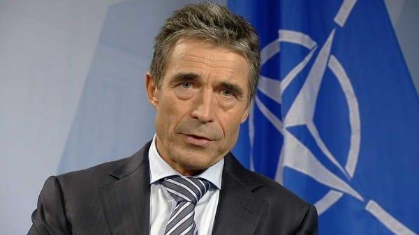 Warmongering liar, NATO chief Fogh Rasmussen.