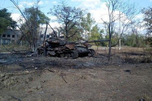 NAF-destroyedTankNearLuhansk