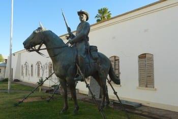 vltchek-That German colonialist horse in Namibia!