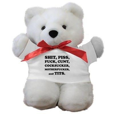 carlin-seven-words-teddy-bear