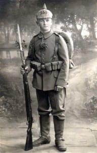 A real German soldier of WWI.  Note how boyish he looks.